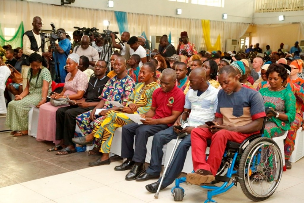 • Cross section of participants at the year 2017 International Day of Persons Living with Disabili