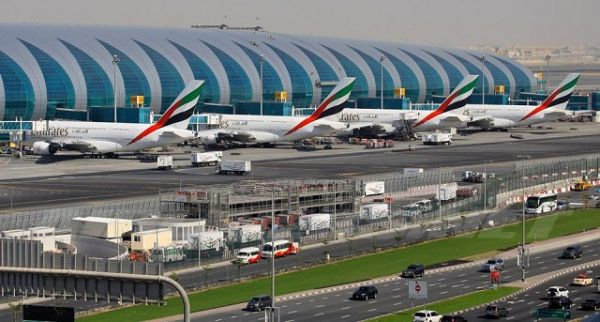 •Front view of the Dubai International Airport.