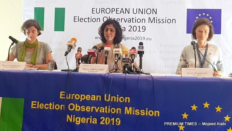 •EU election observer chiefs presenting final report on Nigeria's 2019 polls . . . recently