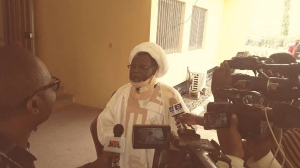 •Detained Shiite Leader, Sheikh Ibrahim El-Zakzaky, speaking with journalists in Abuja on Saturday