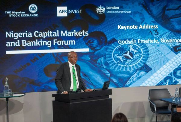 •CBN Governor Emefiele speaking weekend at London Stock Exchange