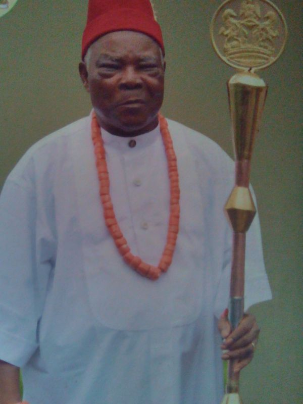 His Royal Highness, Eze Akpunku Iheuwa.