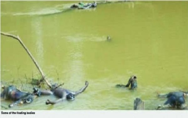 •Echoes of a heinous crime: Corpses floating on Ezu River, Anambra State.