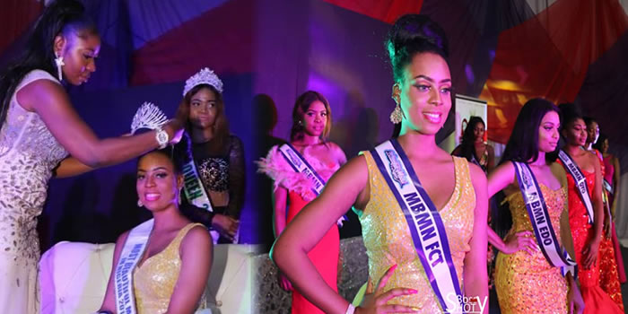•Favour Umeike being crowned Most Beautiful Model in Nigeria 2018