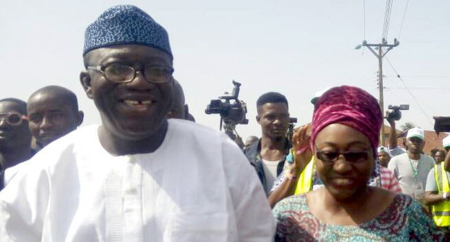 •Fayemi and wife
