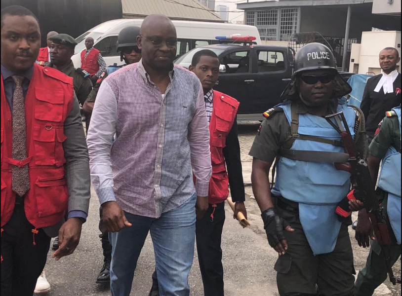 • Fayose arrives Lagos court amid tight security