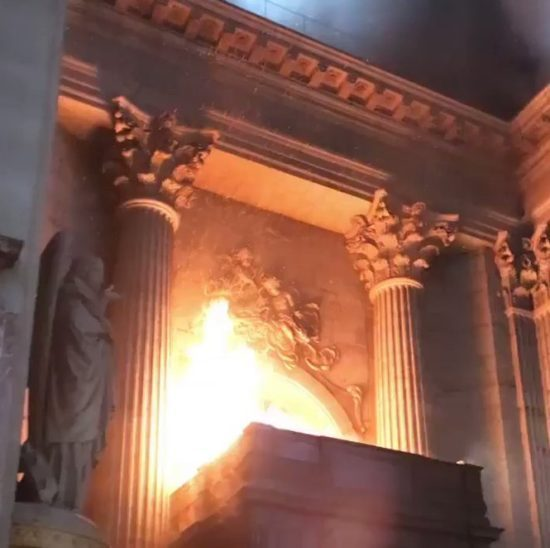 Fire guts Paris' historic St. Sulpice church