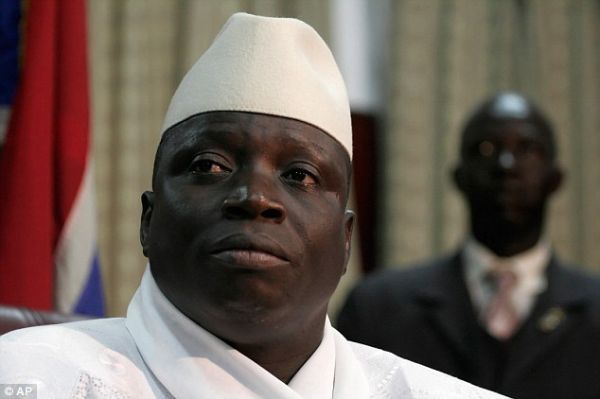 Outgoing Gambian President Yahya Jammeh.