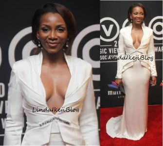 Shameless Genevieve Nnaji exposes breasts in public Features