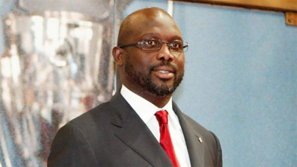 •Liberia's President George Weah
