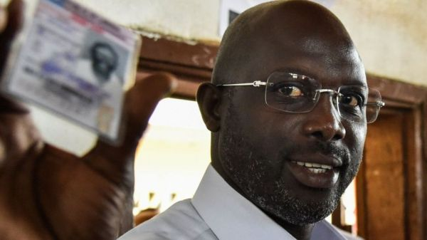 •Liberia presidential hopeful George Weah
