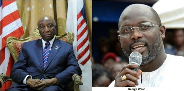 •Liberian presidential frontrunners Joseph Boakai and George Weah