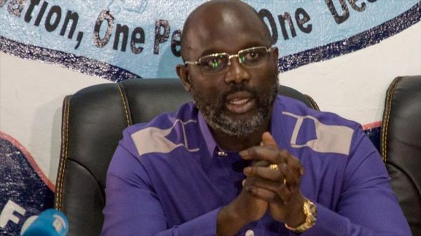 •Liberian President-elect George Weah