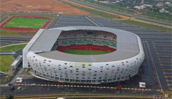 •Venue of the match, the Godswill Akpabio International Stadium, Uyo.