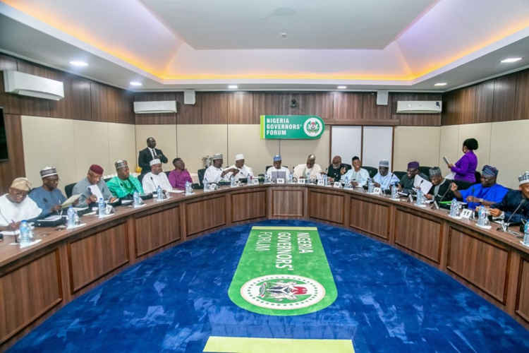 •Nigeria Governors' Forum meeting in session