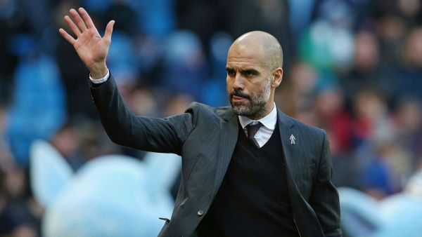 •Manchester City Manager Pep Guardiola