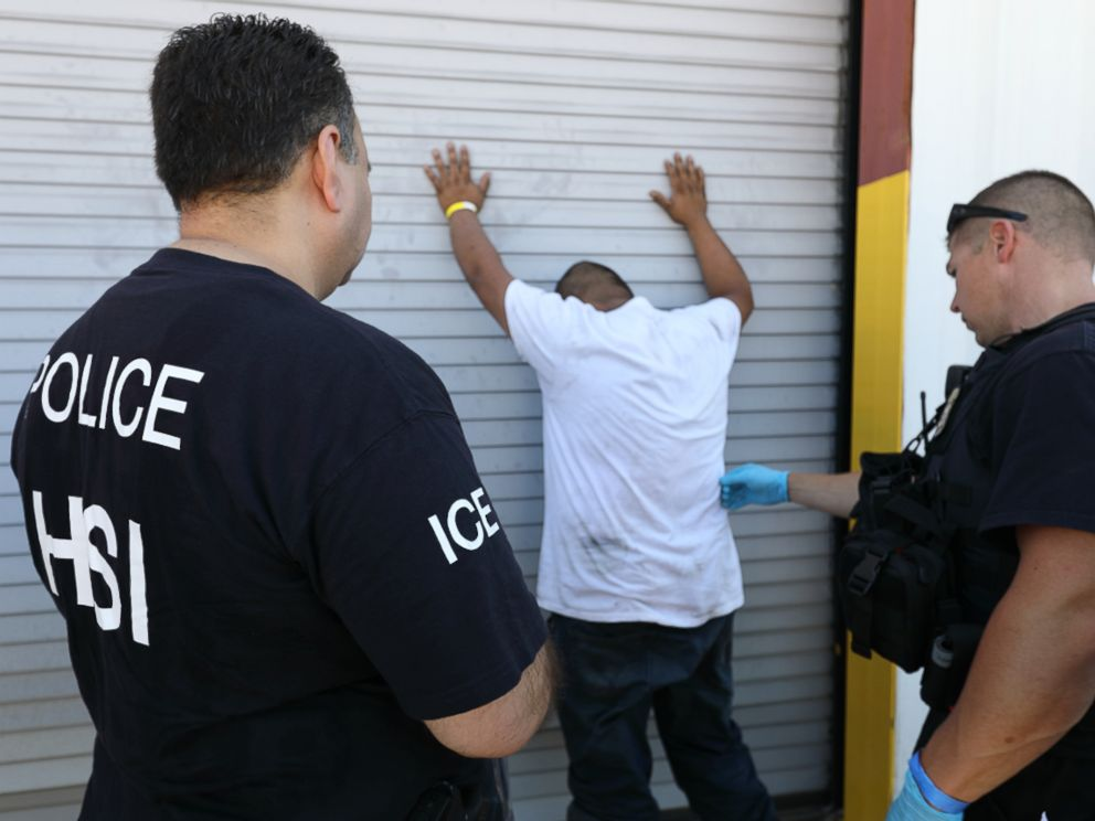 •ICE police arrests a worker
