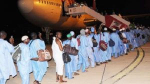 Pilgrims leaving for the 2016 Hajj.
