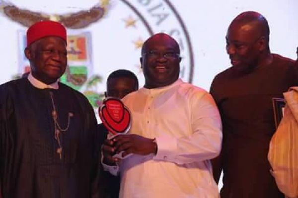 •Award winner, Governor Okezie Ikpeazu