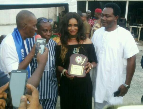 •Ann Chiejine receiving her award