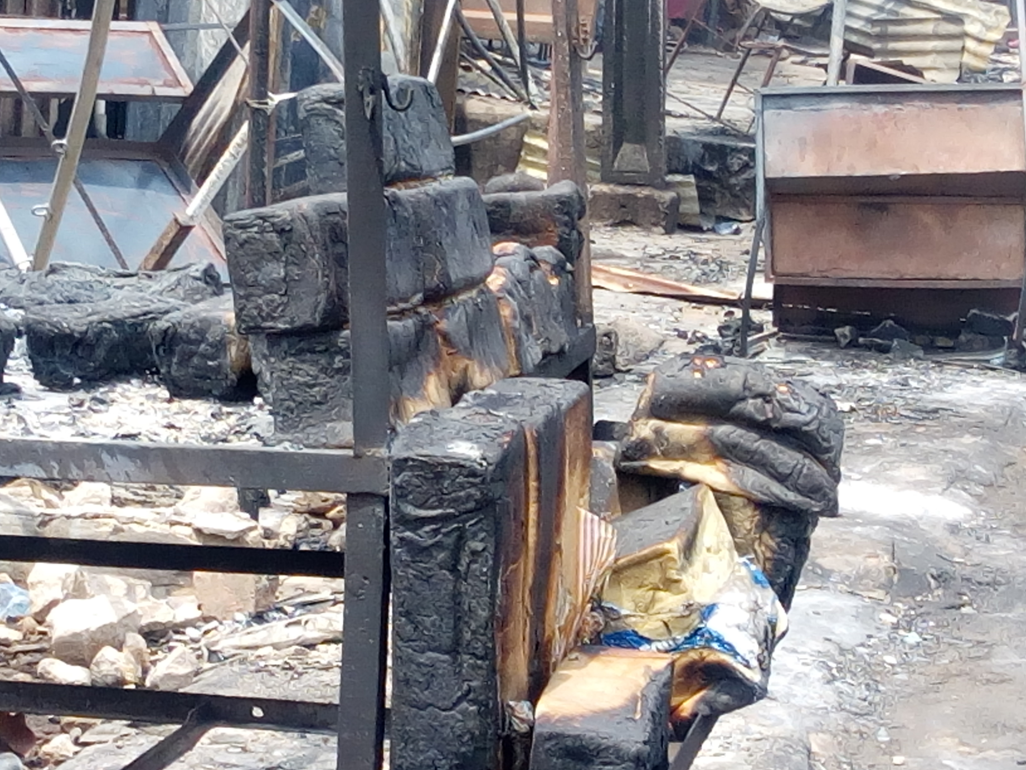 •Burnt bread at the scene of the Anambra tanker fire. Photo: Pamela Eboh.