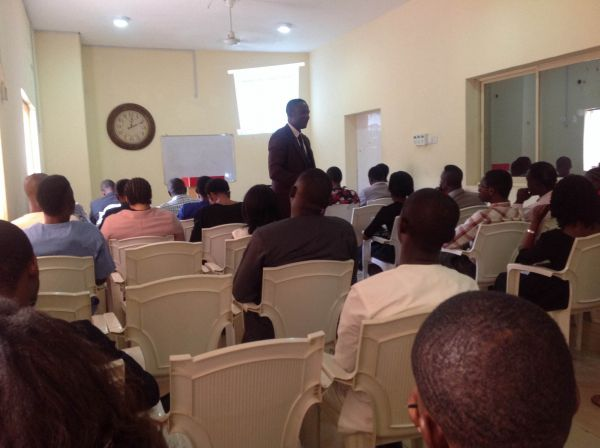 •Pastor Ademola Adetokunbo during the talk session, while engaging the youths on Sunday.