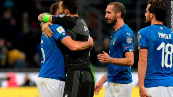 Italy fails to qualify for World Cup for the first time in almost 60 years