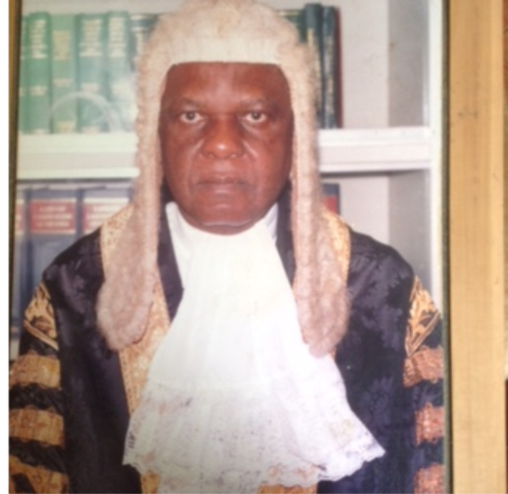 •Hon Justice JO Ogebe at the pinnacle of his career as a Justice of the Supreme Court