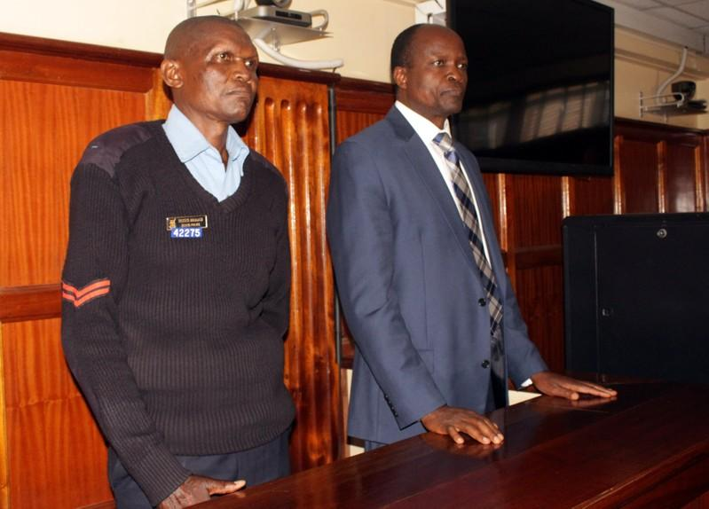 •Okoth Obado, the Governor of Migori county stands in the dock at the Mililani Law