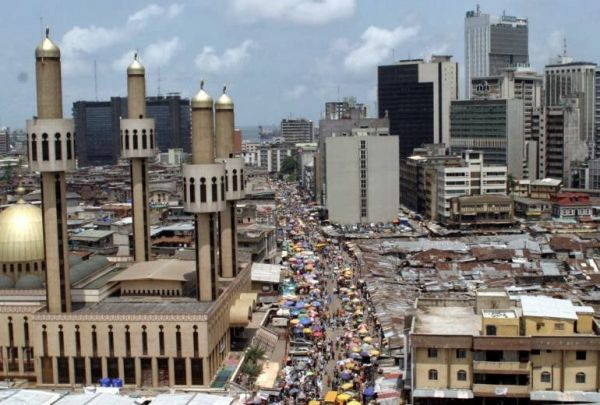 •Lagos Central Business District.