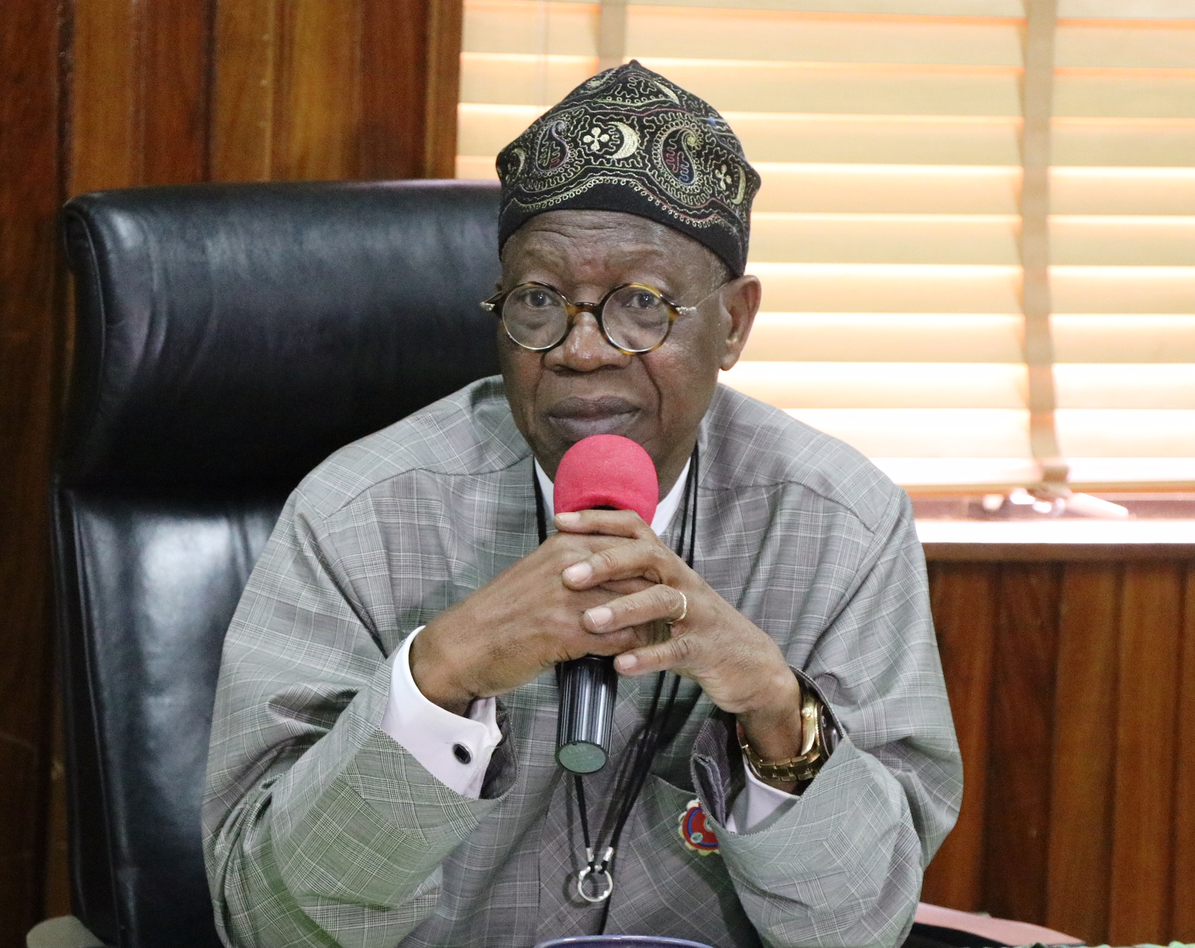 • Minister of Information and Culture, Lai Mohammed