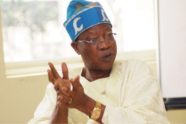 •Minister of Information and Culture, Alhaji Lai Mohammed