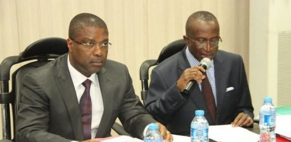 •NDDC Chairman Ndoma-Egba and MD, Nsima Ekere, at a recent public event.