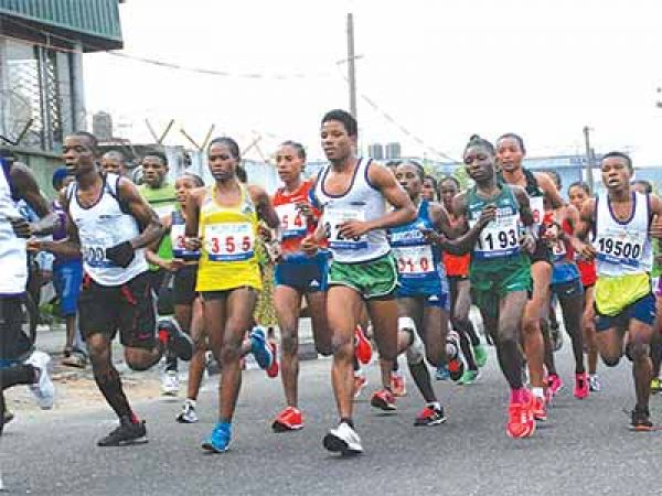 A crowd of participants during the 2016 maiden Lagos City Marathon.