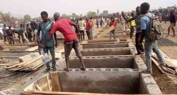 •Mass graves for the burial of the Benue attack victims