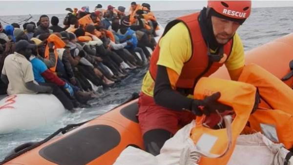 •Troubled migrants being rescued in Libya. Photo: CNN.