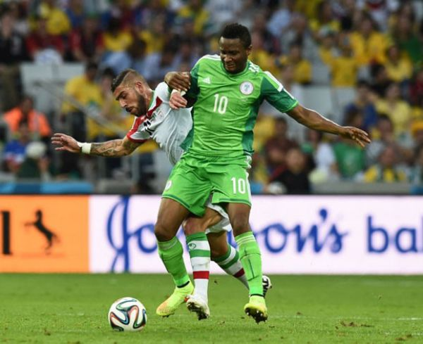 •Super Eagles' Skipper Mikel Obi in action