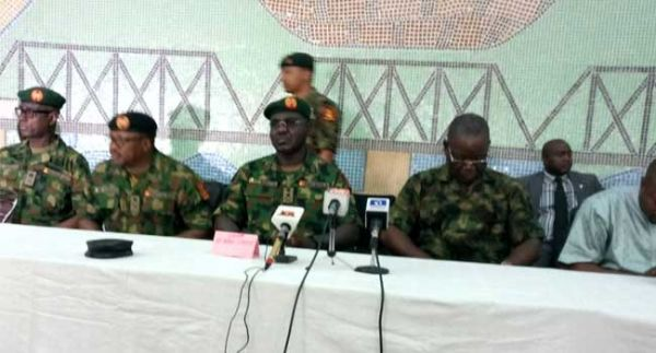 •General Burutai speaking during the take-off of Exercise Cat Race