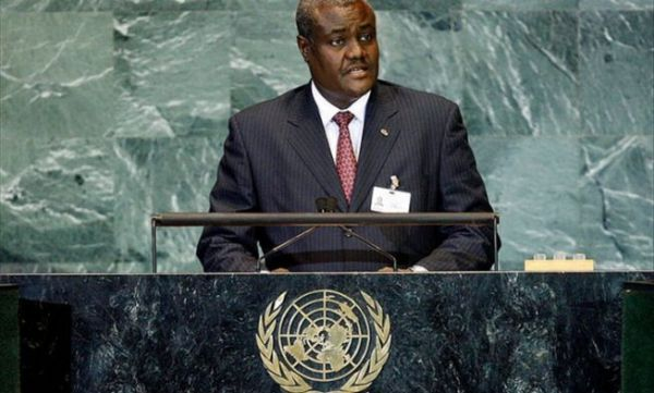•African Union Commission's new chairman Moussa Faki Mahamat.