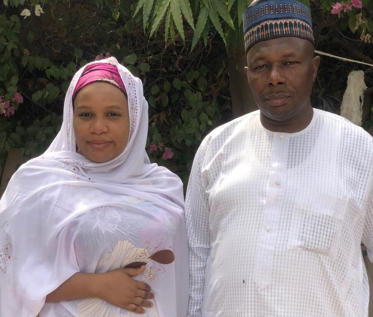 •Mrs Habibat and her father, Mallam Sule Uba-Gaya after reunion with family members