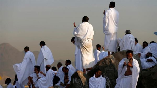 •Muslim pilgrims praying in Mecca during the 2017 Hajj