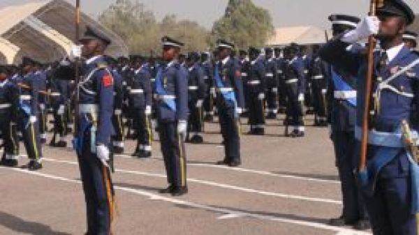 •NAF personnel during a parade