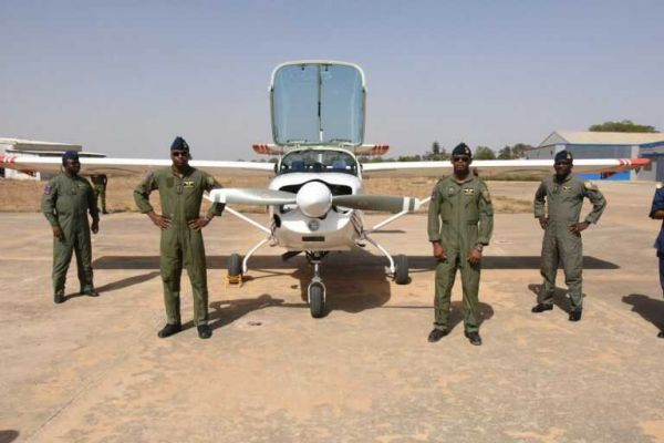 •The newly graduated Nigerian Air Force Instructor Pilots on Super Mushshak Aircraft.
