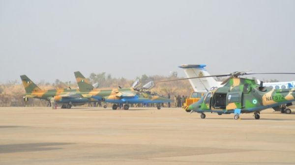 A fleet of NAF Fighter Jets.