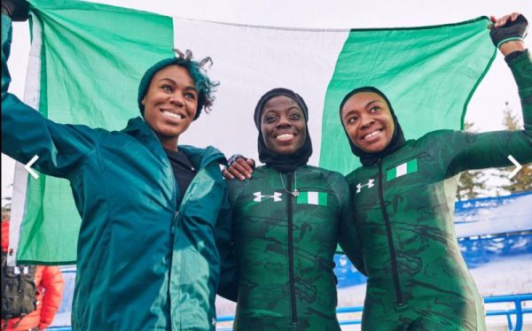 •Nigeria's bobsled team to the Pyeongchang Winter Olympics