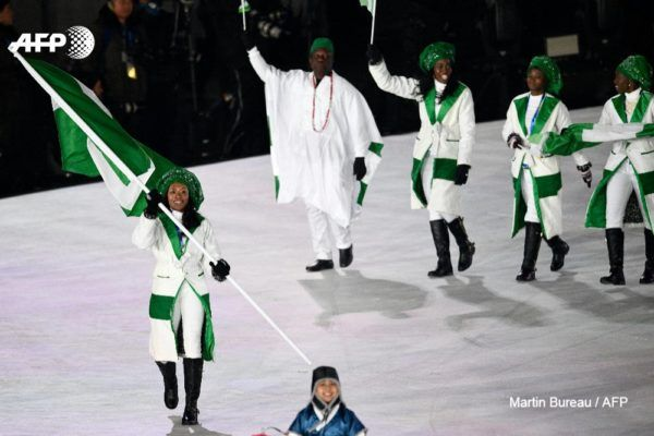 •Nigerian Team at Pyeongchang Olympics. Photo: AFP