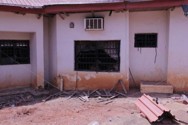 •Nwodo's house after the bomb blast