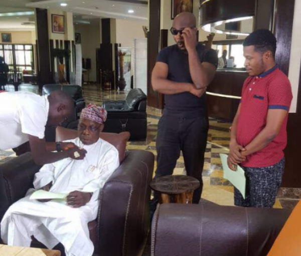 Ex-President Obasanjo makes debut as an actor