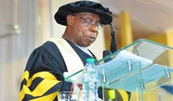 •Ex-President Obasanjo (PhD), speaking during the 7th Convocation Ceremony of NOUN in Abuja