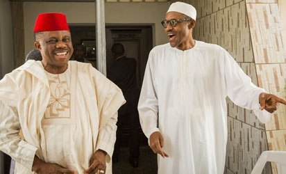 •Anambra State Governor Obiano and President Buhari